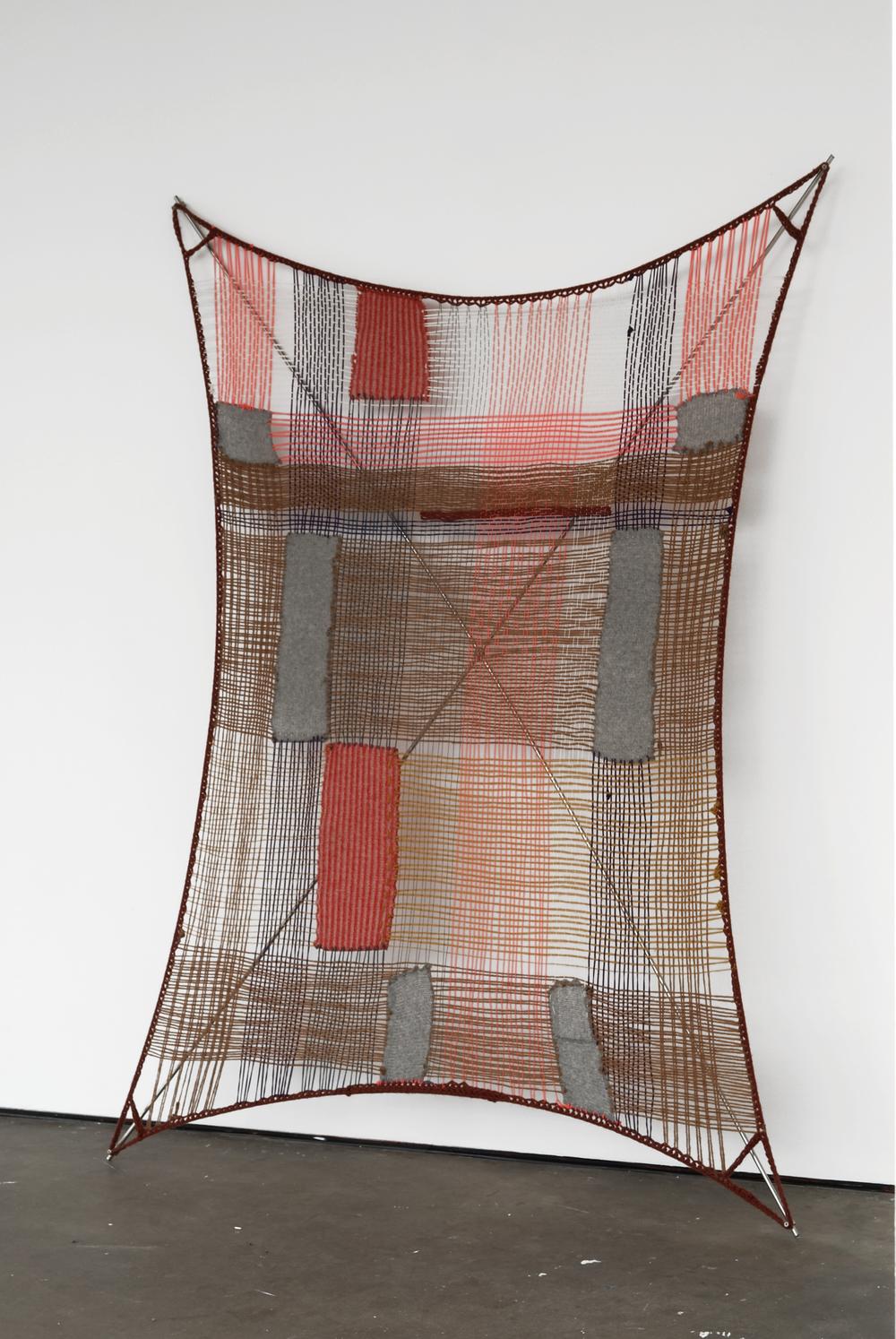 Insert 2009 wool, fibre, stainless steel, rubber 216 x 164 x 16cm