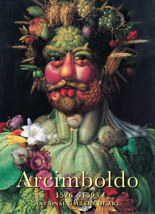 Untitled (Giuseppe Arcimboldo's Vertumnus, 1590 or 1591, Scratch & Sniff) 2014 4-color offset lithograph on 100lb gloss cover with archival Scratch & Sniff scent, 83.8 x 60.9 cm / 33 x 24 in