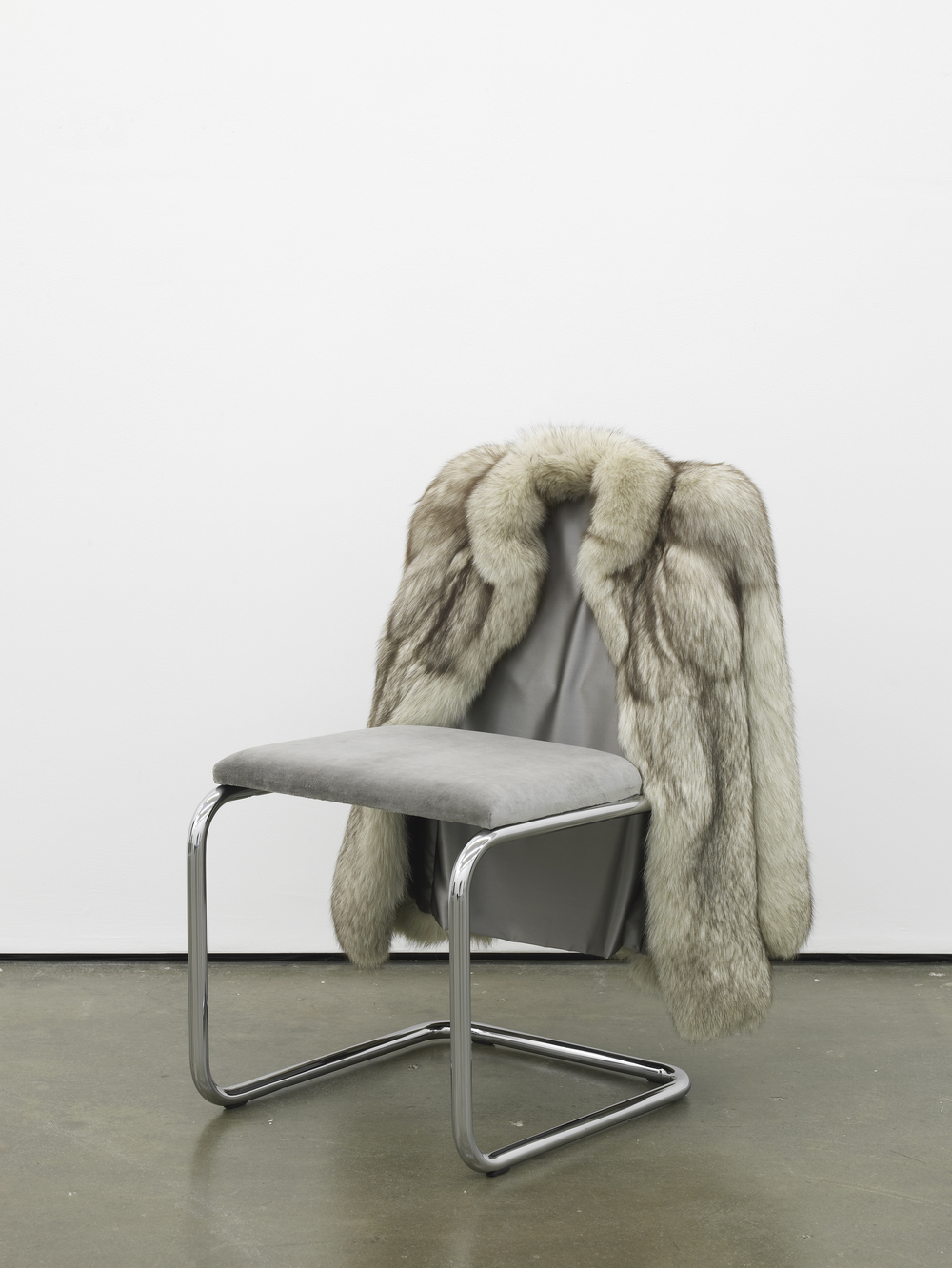 Untitled Chair - FXG-1 2015 Vintage fur, steel tubing, upholstery, silk and velvet 85 x 65 x 60 cm / 33.4 x 25.5 x 23.6 in