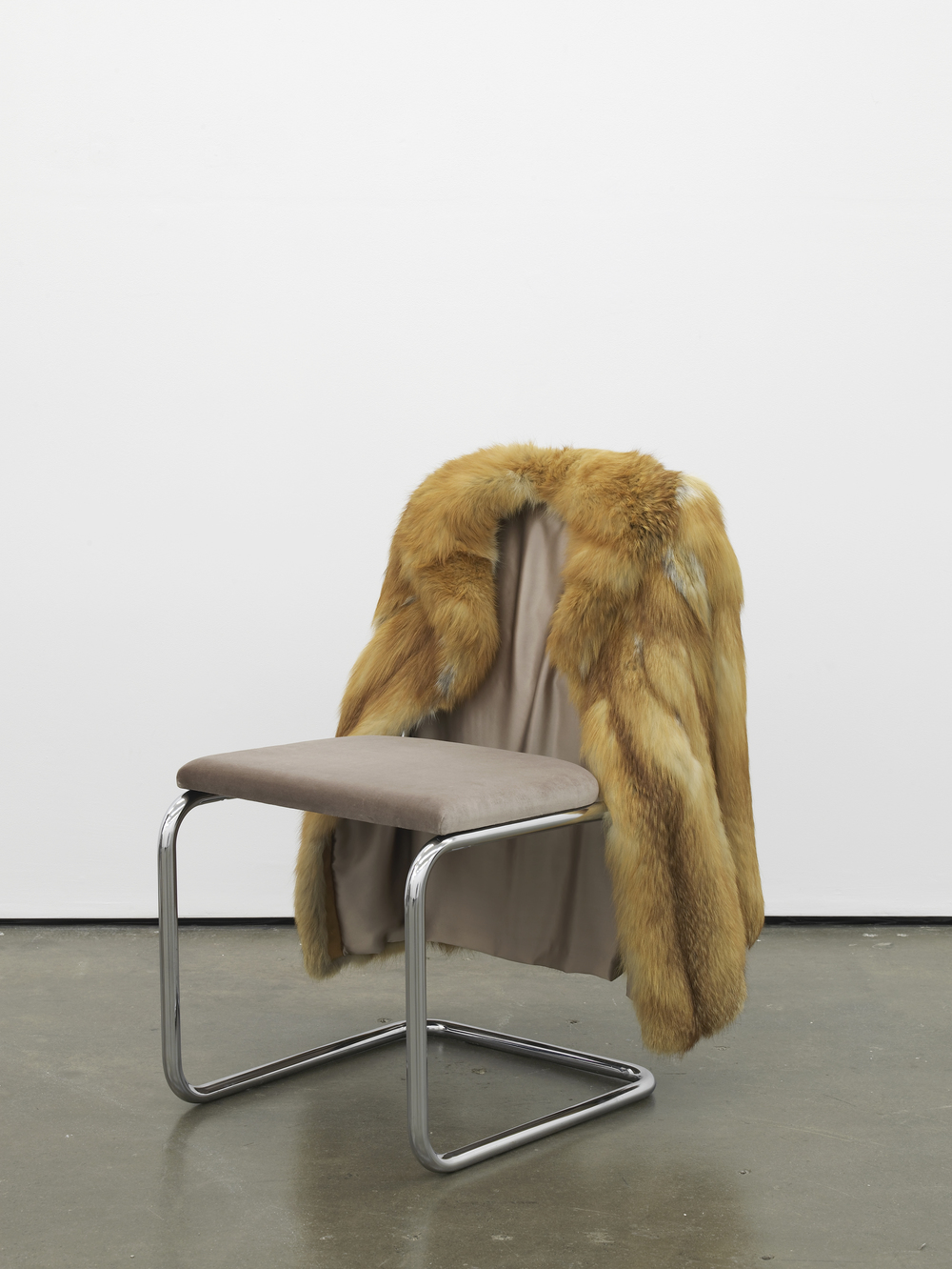 Untitled Chair - FXR-1 2015 Vintage fur, steel tubing, upholstery, silk and velvet 85 x 65 x 60 cm / 33.4 x 25.5 x 23.6 in