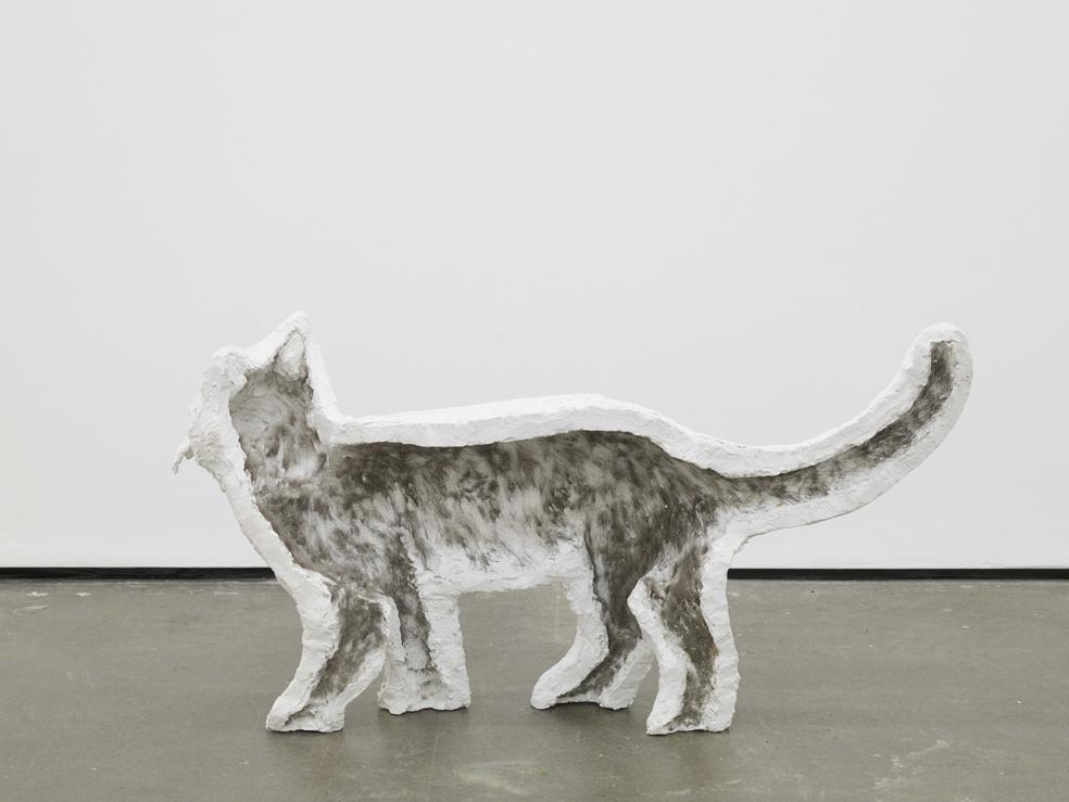 Klaus Weber Cat (phantombox) 2014 Plaster cast 42 x 81 x 20 cm / 16.5 x 31.8 x 7.8 in