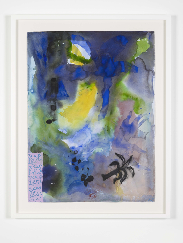 Ida Ekblad PAPA 2015 Watercolour on paper 89.9 x 74.4 cm / 35.3 x 29.2 in (framed)
