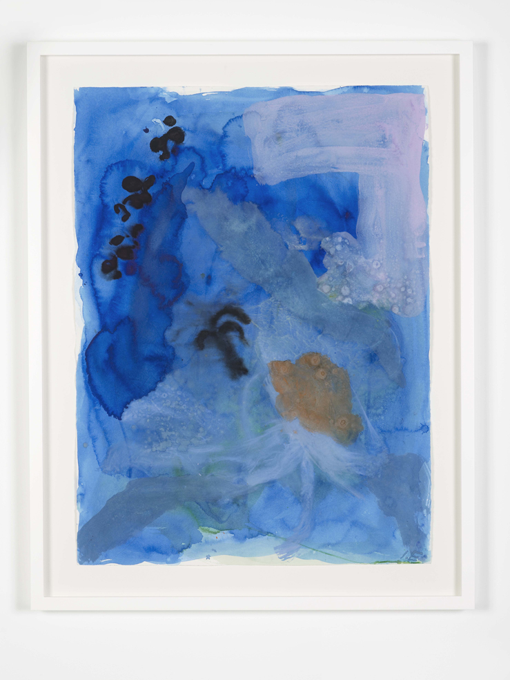 Ida Ekblad ECKI 2015 Watercolour on paper 89.9 x 74.4 cm / 35.3 x 29.2 in (framed)
