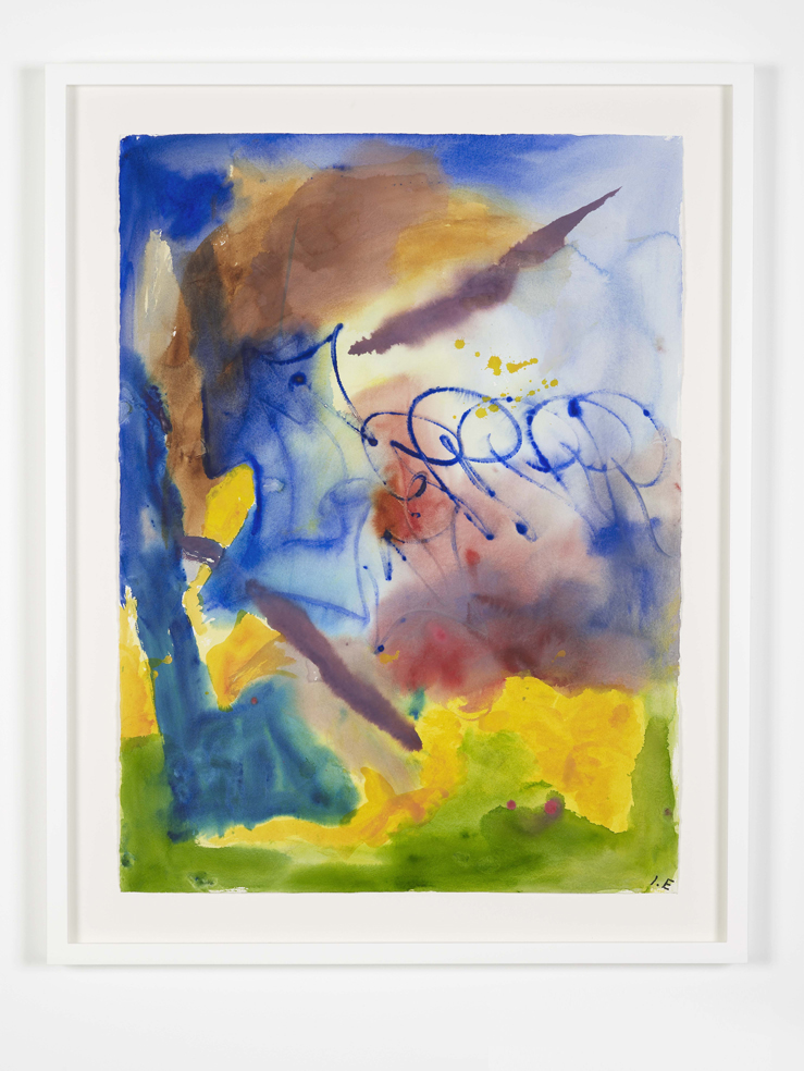 Ida Ekblad UGHI 2015 Watercolour on paper 89.9 x 74.4 cm / 35.3 x 29.2 in (framed)