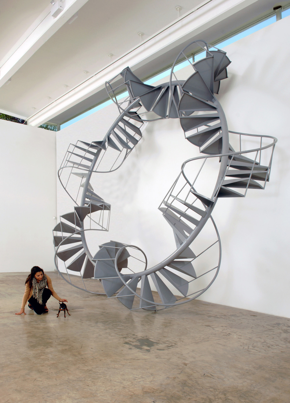 Untitled (Spiral Staircase)   2007   Aluminium, steel   670 x 670 x 231 cm / 264 x 264 x 84 in