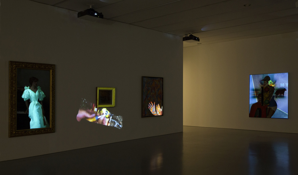 Untitled (Tate Britain) 2009 Video projection with sound and 11 artworks Dimensions variable