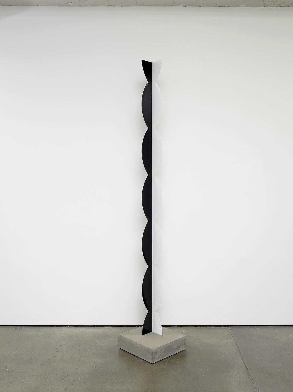 Kusine 2012 Painted steel, concrete 258 x 12 x 12 cm / 101.5 x 4.7 x 4.7 in