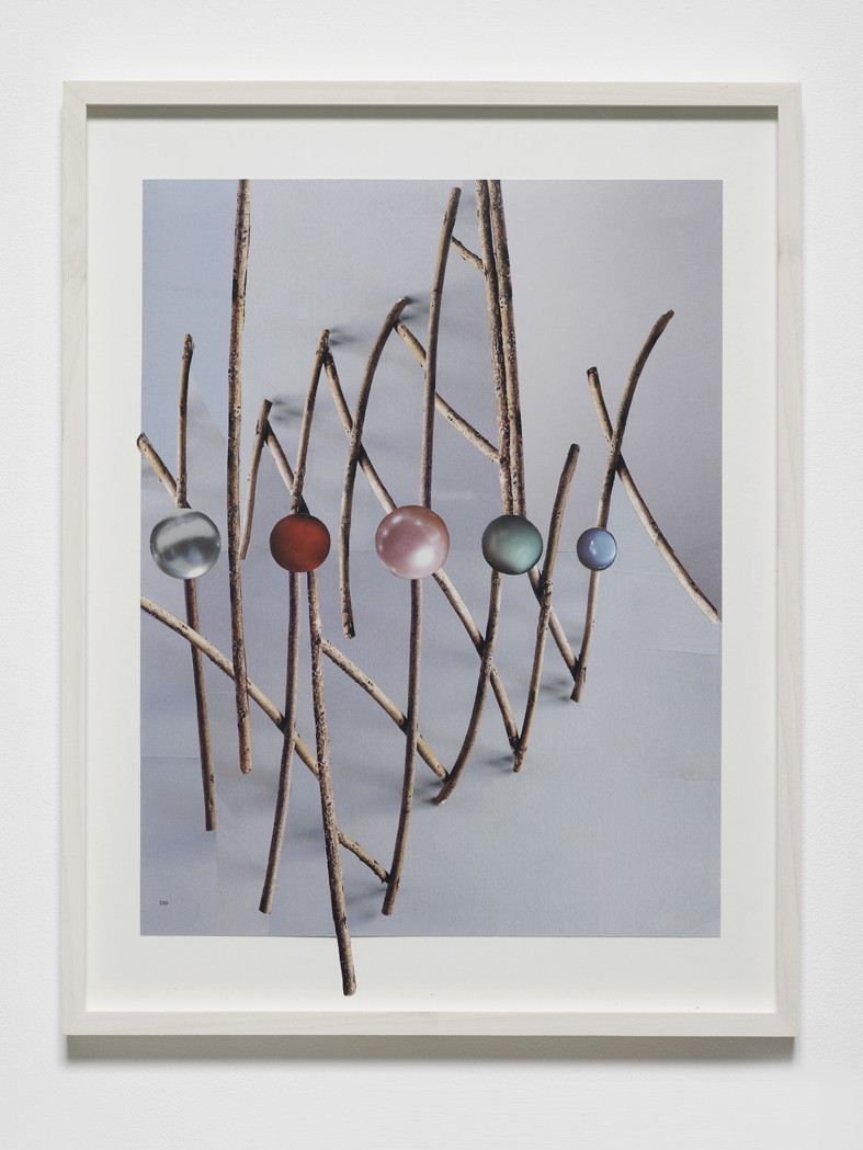 Untitled (twigs & pearls) 2015 Collaged magazine pages 39.7 x 30.5 cm / 15.6 x 12 (unframed)