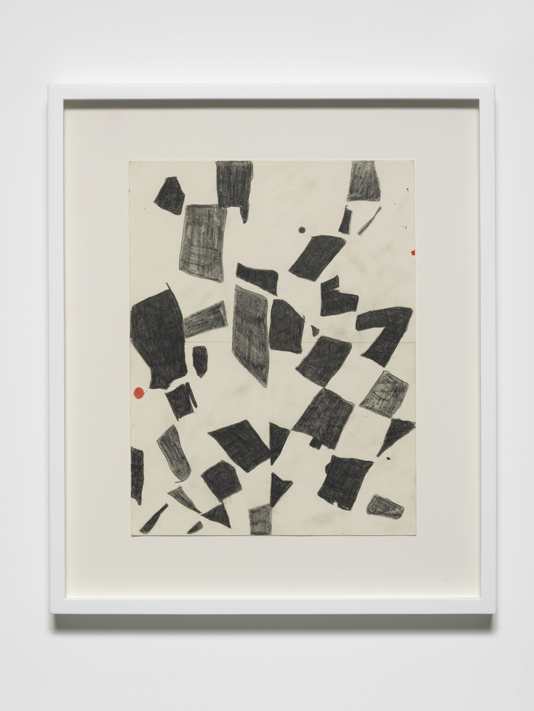 4020 Study (blacks)  2015  Pencil on paper  Artwork: 30 x 23 cm / 11.8 x 9 in  Frame size: 42.6 x 35.6 cm