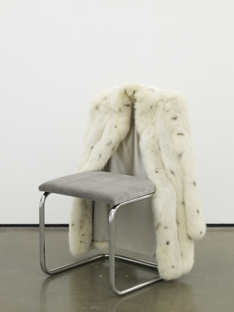 Untitled Chair - CSFX-0  2015  Vintage fur, steel tubing, upholstery, silk and velvet  85 x 65 x 60 cm / 33.4 x 25.5 x 23.6 in