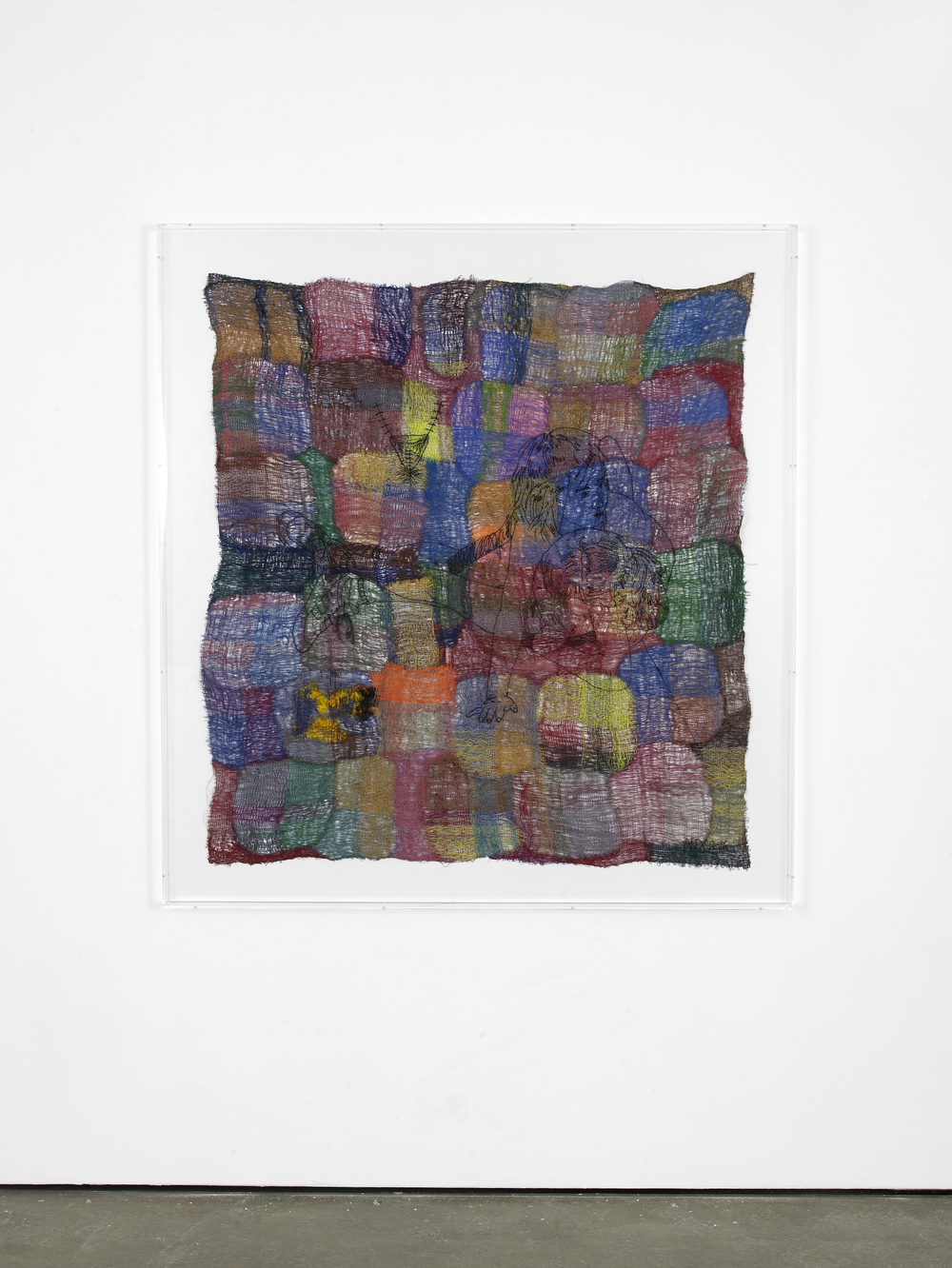 Rupture 2016 Polyester, wool, viscose 140 x 128 cm / 55.1 x 50.3 in 158.2 x 146.2 x 7 cm / 62.2 x 57.5 x 2.7 in (framed)
