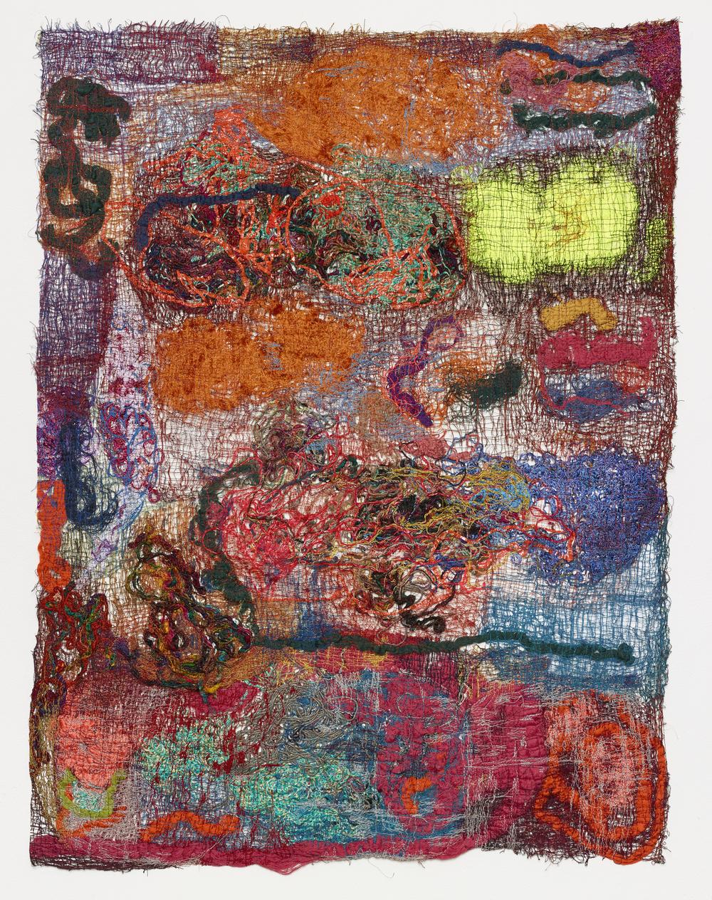 Sediment I 2015 Polyester, silk, cotton, wool, polyurethane 111 x 83 cm / 43.7 x 32.6 in