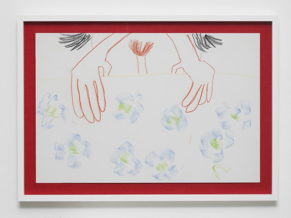 Rebecca Ackroyd The heavens opened 2016 Chalk pastel on paper 38.9 x 58.2 cm / 15.3 x 22.9 in 48 x 67 cm / 18.8 x 26.3 in (framed) HS12-RA5465D