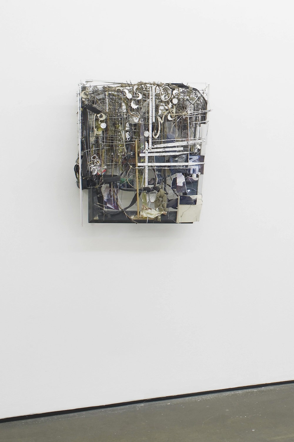 Robert Bittenbender Passion Avenue 2015 Wood, steel, photographs, aluminium, plastic, acrylic glass, jewelry, rubber, rope, paper, clothespins, zipties, metal wires,chains, assorted tubes, bottles 80 × 67 × 22 cm / 31.5 × 26.3 × 8.6 in HS12-RB5458S