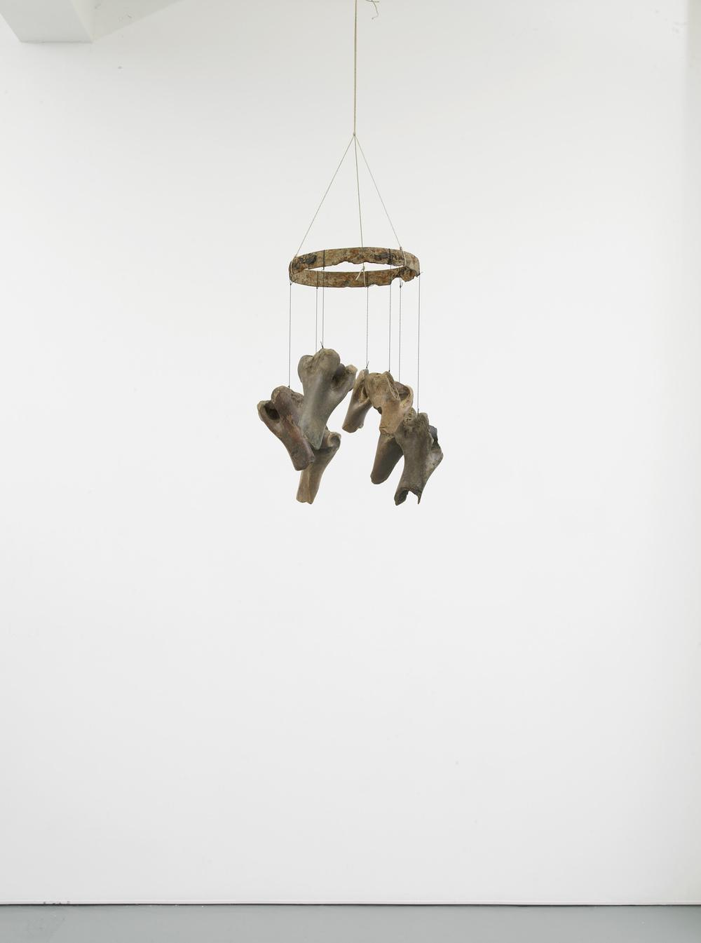 Franziska Lantz THAMES, no title 2016 Metal, bones, rope, string 47 x 30 x 30 cm / 18.5 x 11.8 x 11.8 in HS12-FL5510S