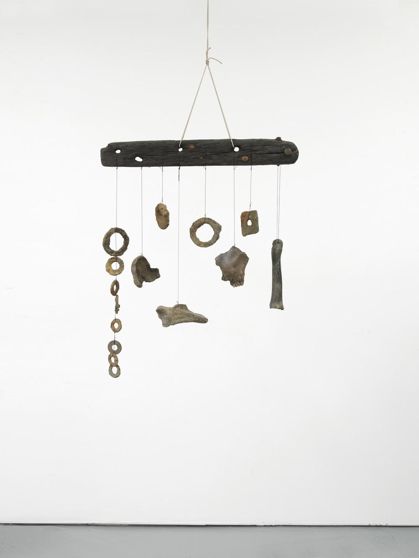 Franziska Lantz THAMES, no title 2016 Wood, metal, bones, rope, string 82 x 68 x 14 cm / 32.2 x 26.7 x 5.5 in HS12-FL5511S