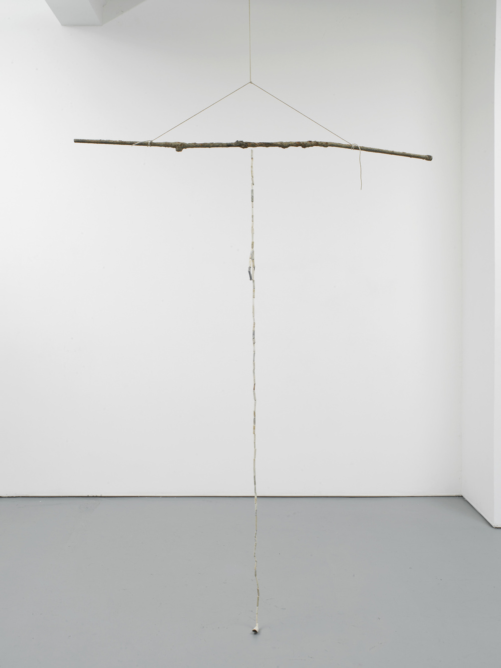 Franziska Lantz THAMES, no title 2016 Wood, metal, clay pipes, rope, string 189 x 130 x 5 cm / 74.4 x 51.1 x 1.9 in HS12-FL5512S