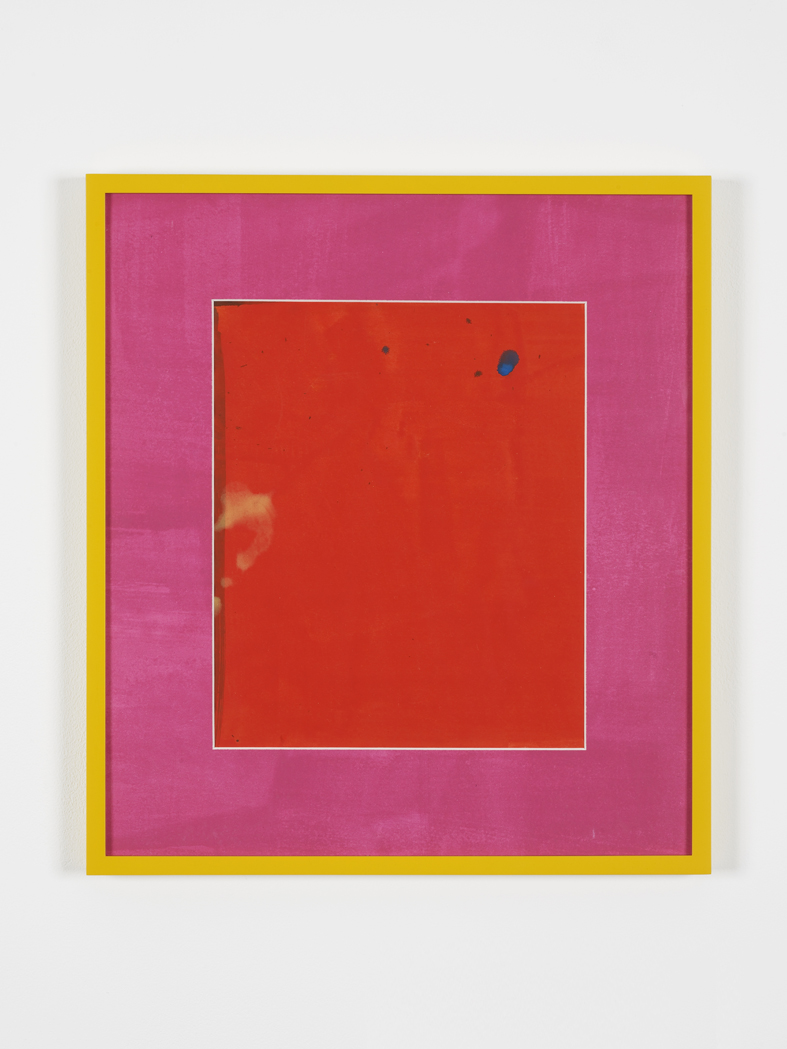 Red Button 2015 Acrylic on paper, painted mat board, perspex, artist's frames  47 x 41 x 2.5 cm / 18,5 x 16,2 x 1 in