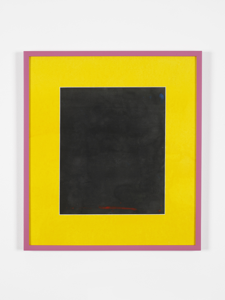 Black Button 2015 Acrylic on paper, painted mat board, perspex, artist's frames  47 x 41 x 2.5 cm / 18,5 x 16,2 x 1 in