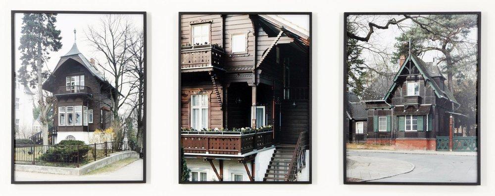 "Serie ""Wolgaster Holzindustrie Aktiengesellschaft"" c-print, three parts 2008 5/5 + 2 AP"