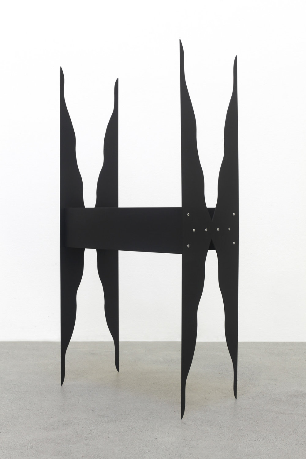 Mirrored Table (Shadow) 2016 Birch plywood, euro-beech hardwood, aluminum, aluminum rivets, acrylic 121.9 x 60.9 x 30.4 cm / 48 x 24 x 12 in