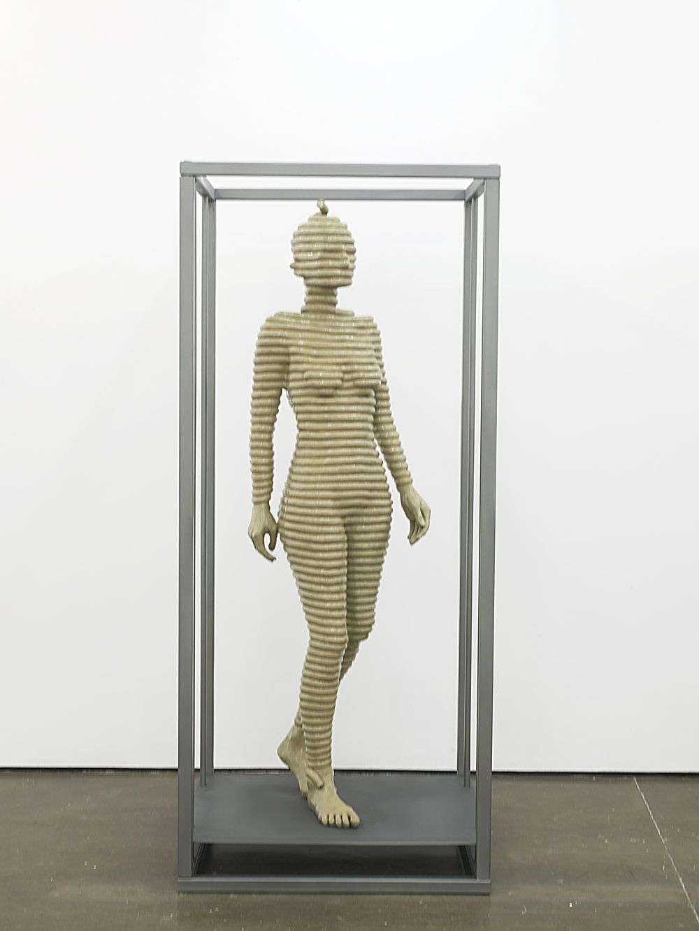 Sensor Series No.4 (Grace walking) 2016 Resin, clay pigment, steel and paint 200 x 90 x 90 cm / 78.7 x 35.4 x 35.4 in Ed. 1/3 +1AP