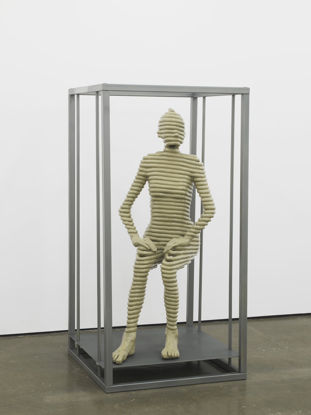 Sensor Series No.2 (Grace sitting) 2016 Resin, clay pigment, steel and paint 170 x 90 x 90 cm / 67 x 35.4 x 35.4 in Ed. 1/3 +1AP