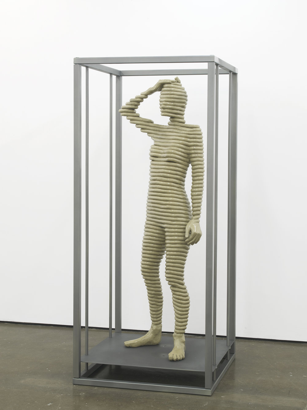 Sensor Series No.1 (Grace standing) 2016 Resin, clay pigment, steel and paint 200 x 90 x 90 cm / 78.7 x 35.4 x 35.4 in Ed. 1/3 + 1AP