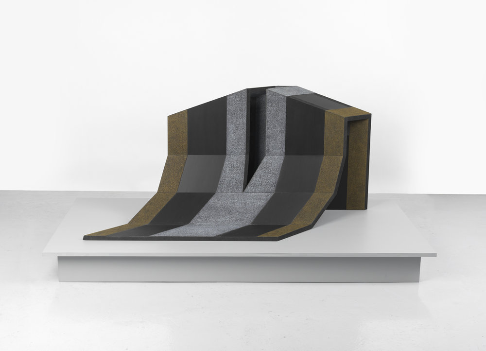 Tunic (folded)  2012  Gatorfoam board, spunbond polyester and crayon  Sculpture: 68.6 x 147.3 x 55.8 cm / 27 x 58 x 22 in