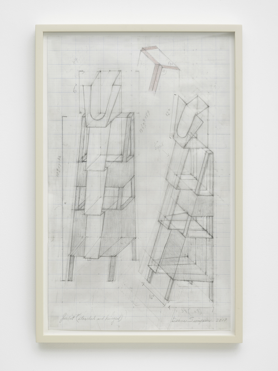 Drawing for Jabot 2018 Pencil on vellum graph paper on 4-ply rag mat board  53.3 x 33 cm / 21 x 13 in