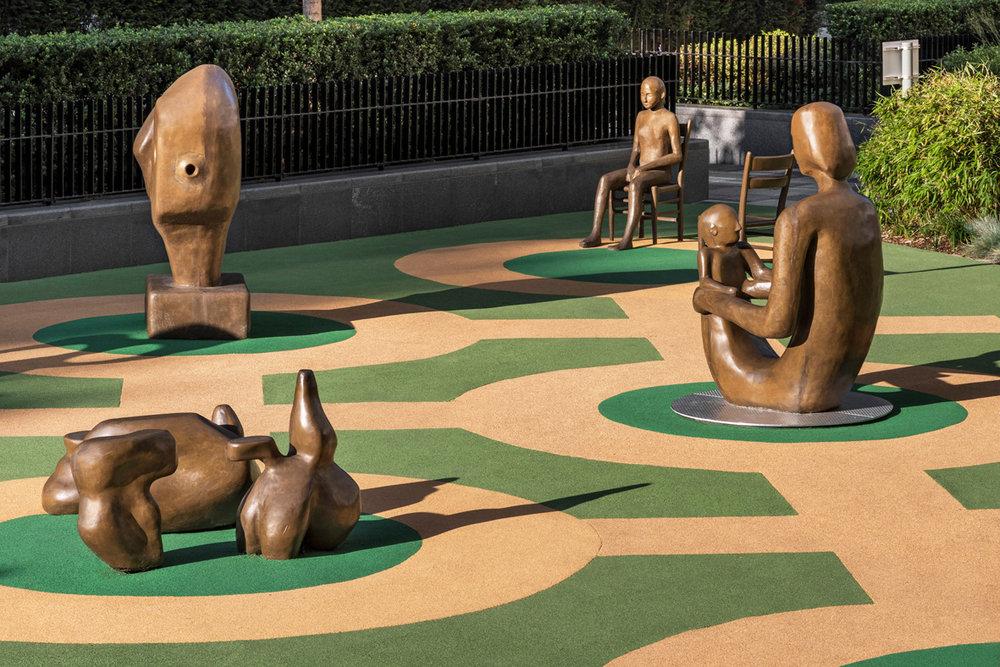 Matthew Darbyshire  Installation view Sculpture Garden, Battersea, London, UK (permanent commission) 2018