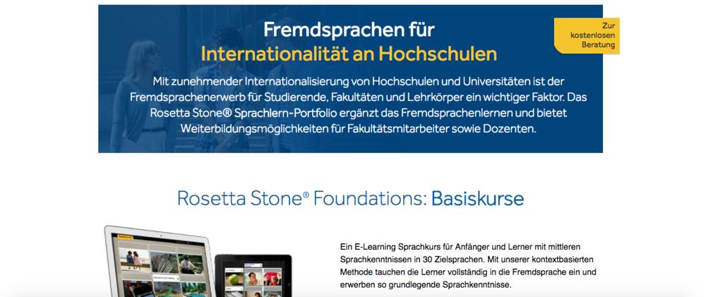 Rosetta Stone German Site