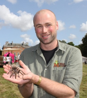 With Trinny the tarantula.