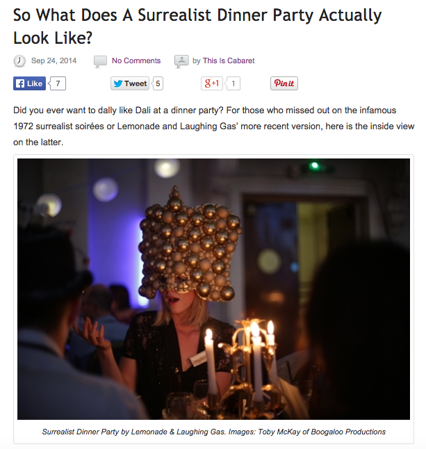 This Is Cabaret Surrealist Dinner Party Feature