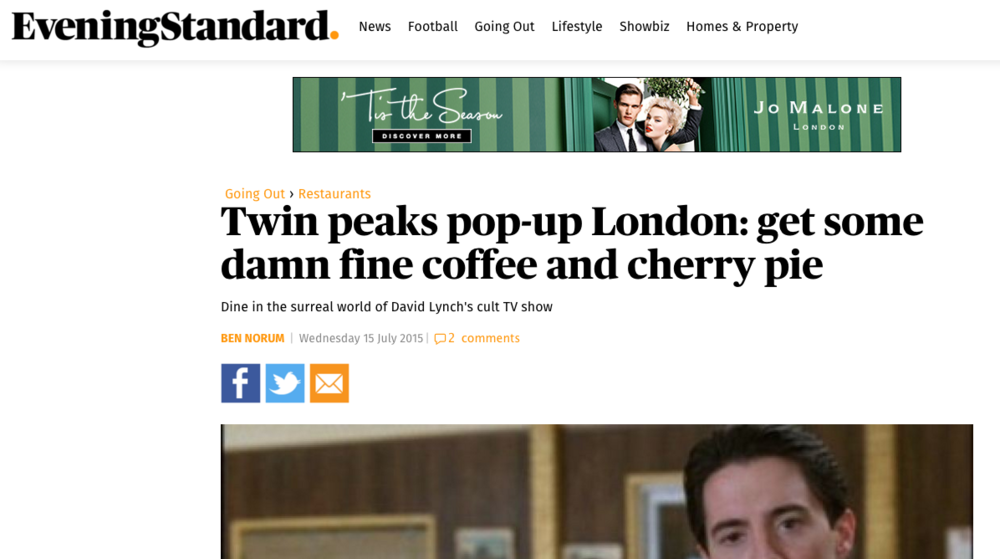 Evening Standard Feature