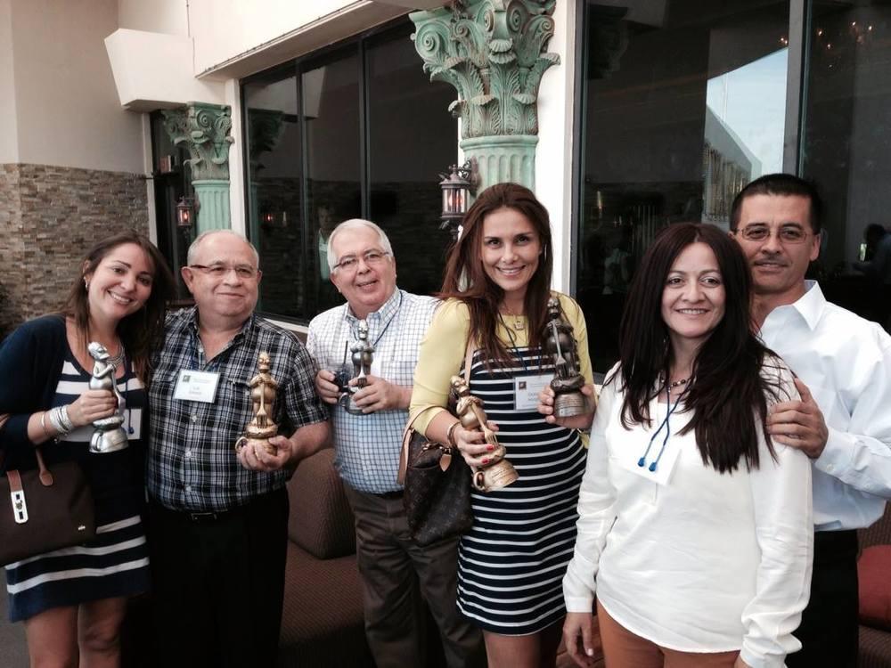 El Equipo de CPL en la ceremonia de los Homey Awards en Las Vegas