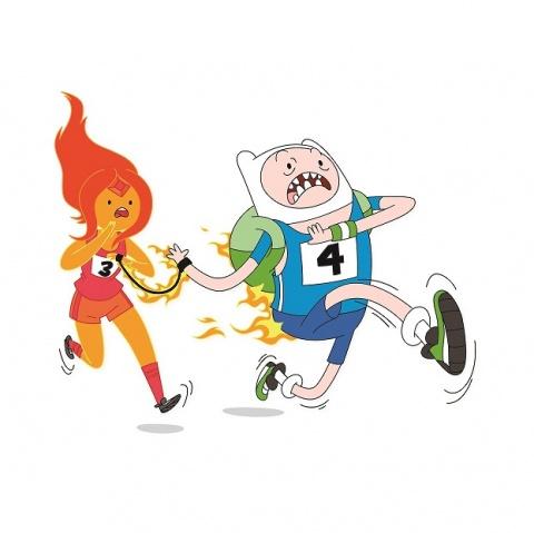 """Este año, Carrera Cartoon apoya la campaña del canal """"Basta de bullying, no te quedes callado"""", contra el acoso escolar."""