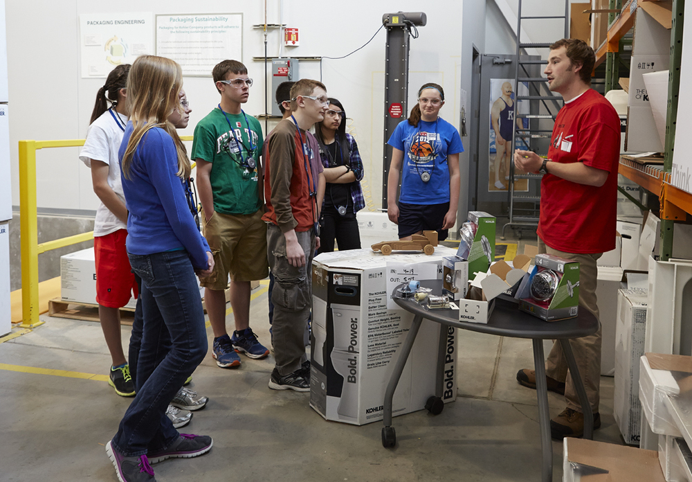 Kohler invites students behind the scenes in our workplace to help inform, engage and inspire.