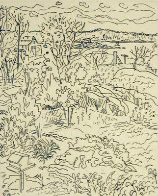 Landscape with Bird Feeder