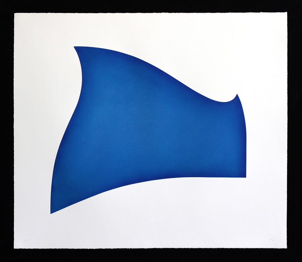 Crest   2015  aquatint with surface roll on shaped copper plate  30 x 35 inches (sheet)  edition 30  2015