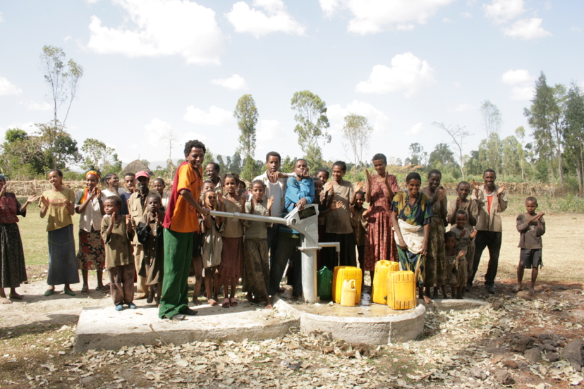 The first well funded by the Wishing Well students at Oklahoma Christian University. The well was a gift to the people of Awasa Ethiopia.