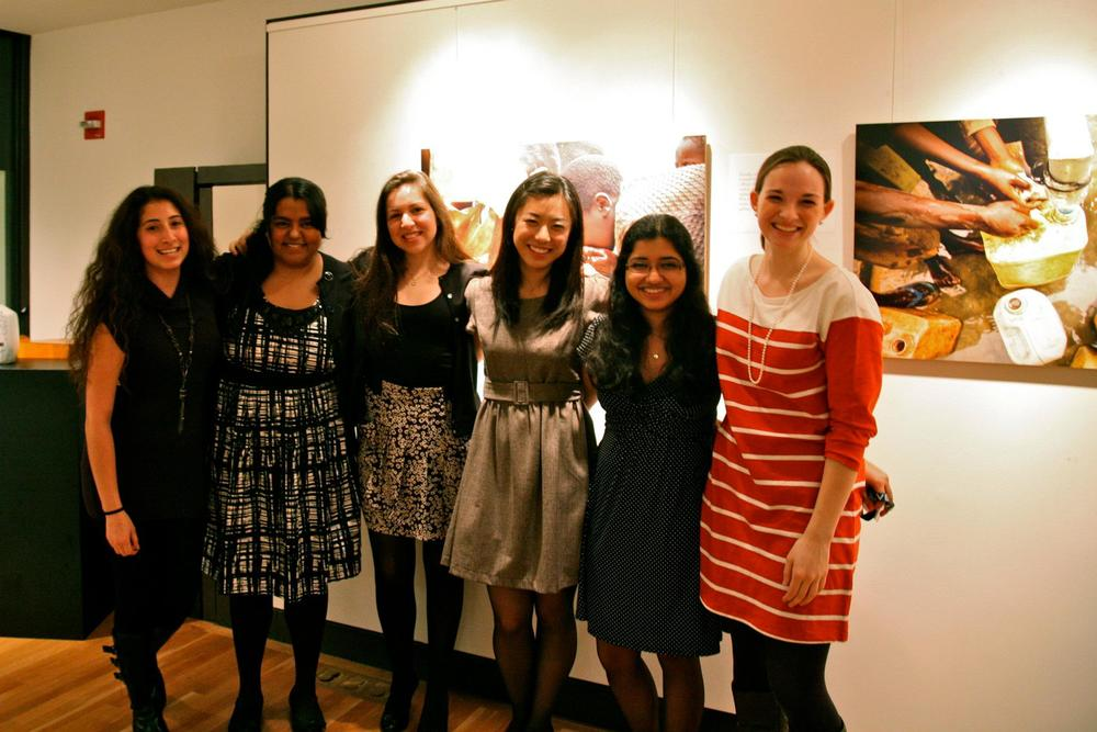 Meredith and other members of Wishing Well at Yale at a photo gallery about the water crisis. This event was one of many creative ventures she and her team produced.