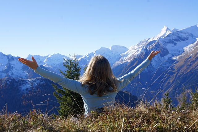 Student enjoys Heart Spirit as One in the Austrian alps