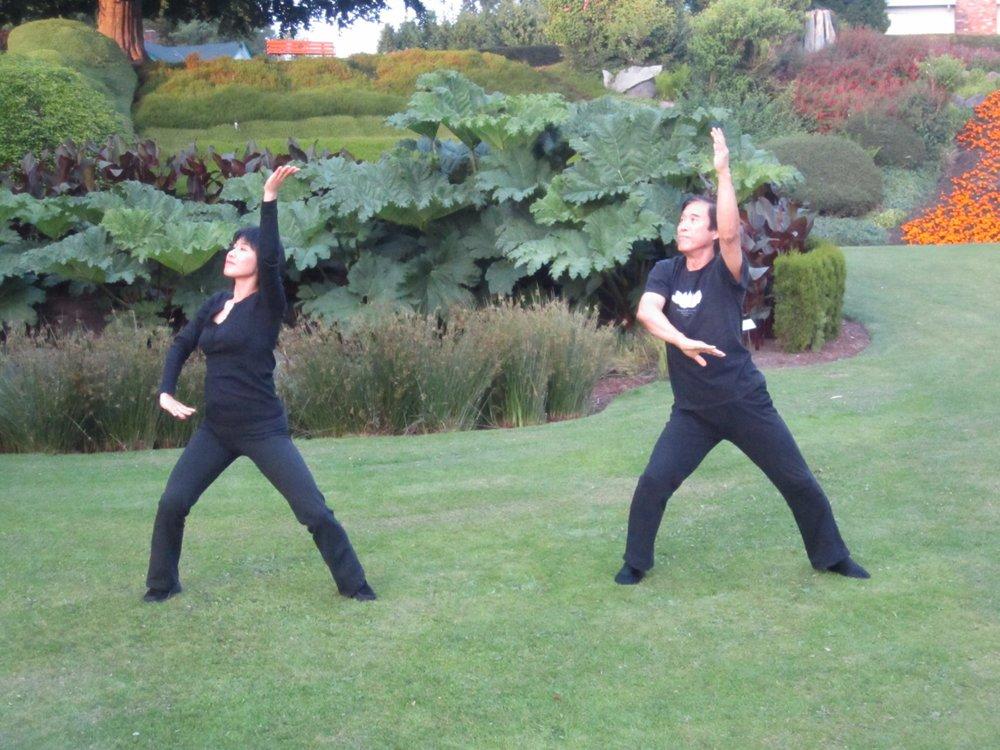 Master Li and Li Jing in Vancouver, Canada