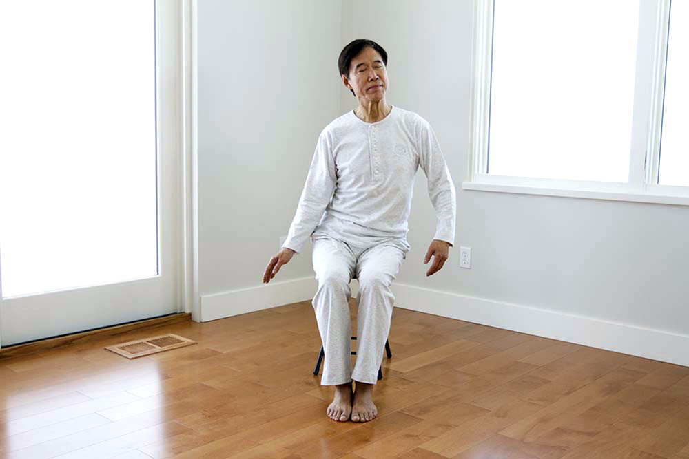 Master Li demonstrations a movement in LIGHT OF PURITY: HEALING FROM THE KIDNEYS