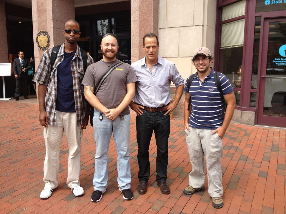 GW Veterans meet Sebastian Junger