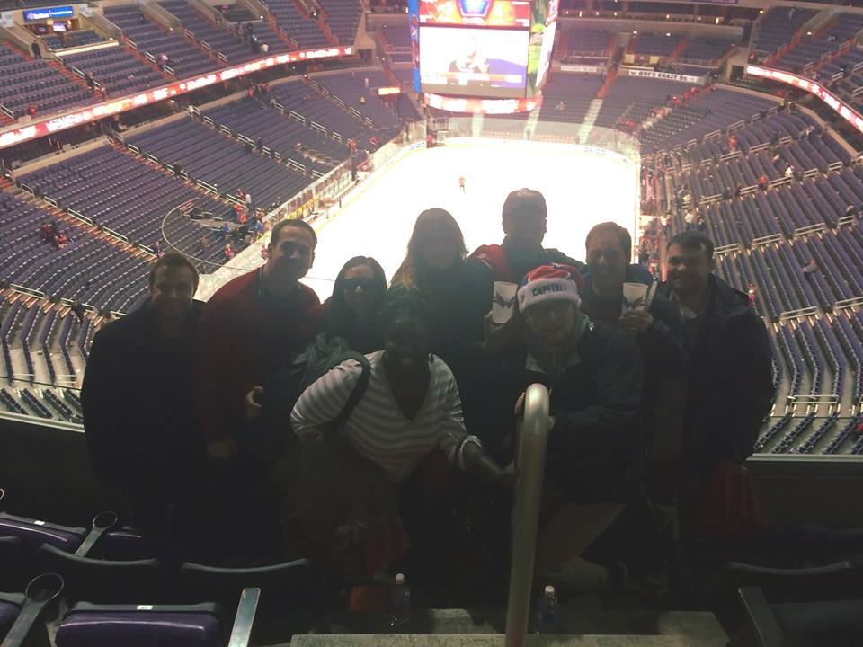 GW Veterans at a Washington Capitals game
