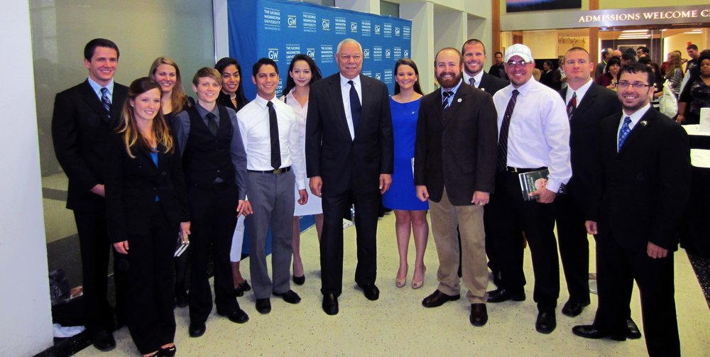 GW Veterans with former Secretary of State General Colin Powell