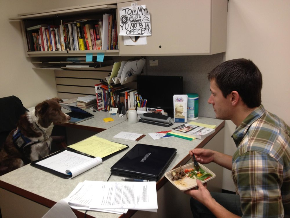 President Olive, counseling Ivan on his inability to share.