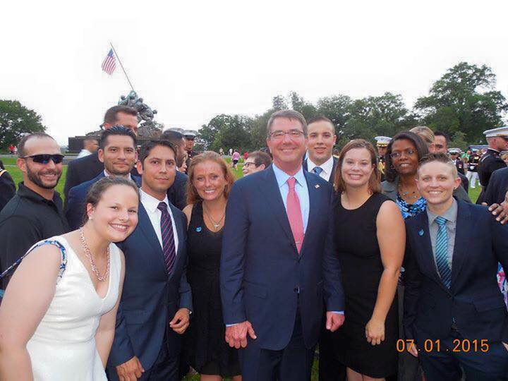 GW Veterans with Secretary of Defense Ash Carter.